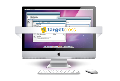 Target cross per apple